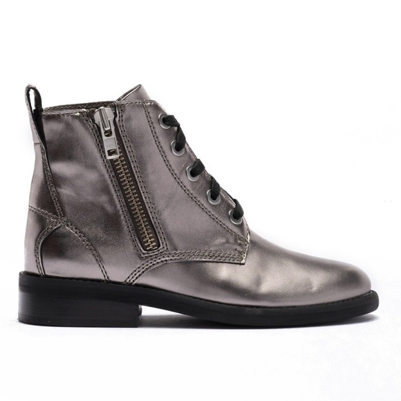 Abound Shoes - Abound Pewter Metallic Seymor Ankle Festival Boots